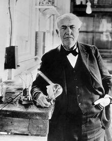 Thomas Edison at Menlo Park NJ lab