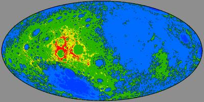 Физическая карта Луны