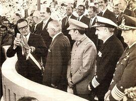 Allende en Parada Militar