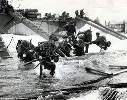 British forces landing on Catalonia