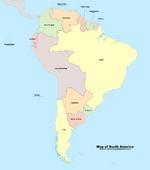 Map of South America (Russian America)