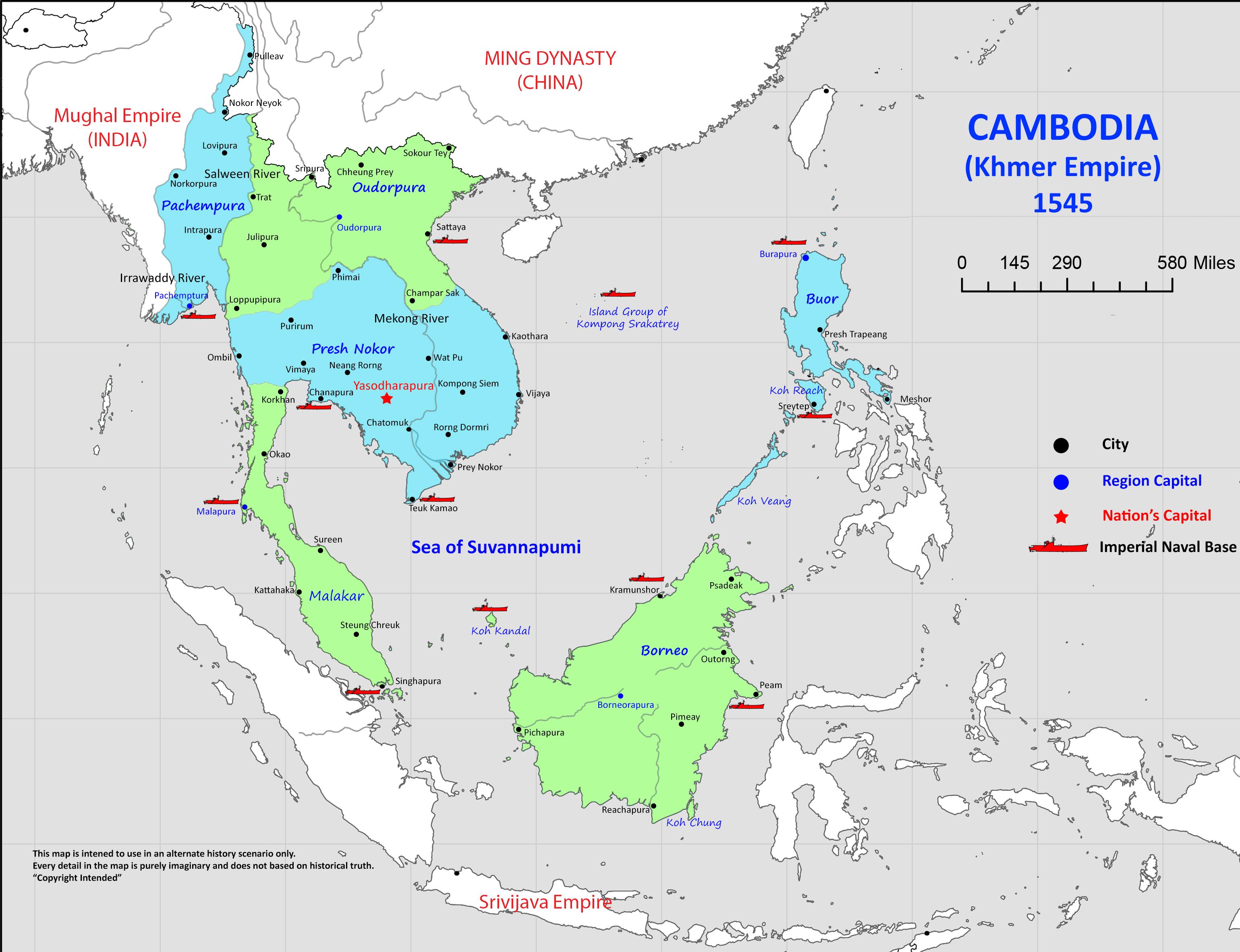 The great khmer empire alternative history fandom powered by wikia cambodia 1545 malvernweather Gallery