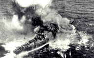 Japanese Gunboat sinking