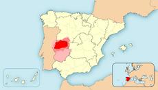 Map of Extremadura 83DD