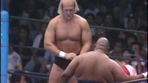 NJPW Hulk Hogan vs Ab