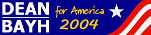 President Dean-Bayh Ticket 2004 Logo