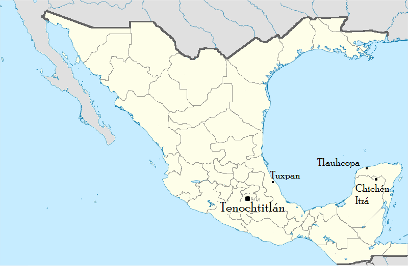 Image - Aztec Empire Location.png | Alternative History | FANDOM ...
