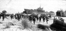 Welsh troops landing at Reggio de Calabria