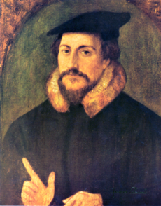 800px-John Calvin by Holbein