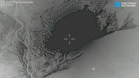 Drone footage shows MOAB drop in Afghanistan