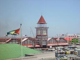Stabroek-Clock-Stabroek-Market Georgetown Guyana
