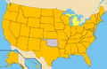 Ballot access of Gary Johnson in the 2012 US presidential election.png