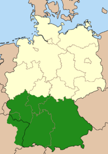 Map of South Germany