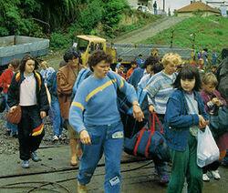 Сербские беженцы из Западной Славонии