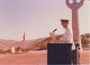 Mayor de Ejército Juan Carlos Stack en aniversario batalla de Chacabuco - 1978