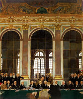 William Orpen - The Signing of Peace in the Hall of Mirrors, Versailles