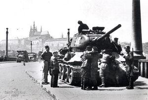 Т-34 на улице Лондона