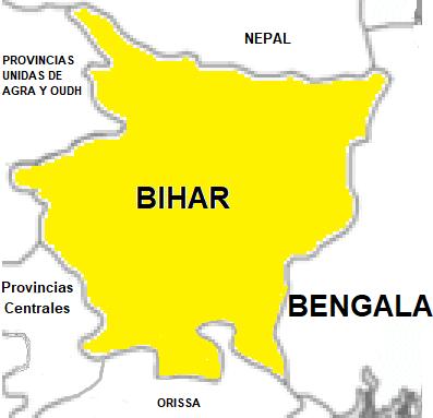 Bihar mapa