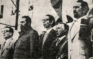 Carlos Altamirano, Fidel Castro, Salvador Allende y Luis Corvalán