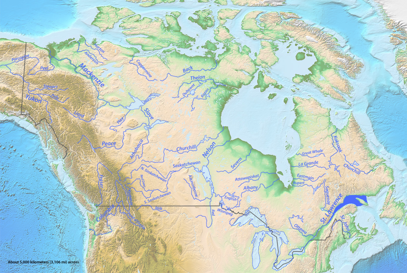 longest rivers of canadajpg