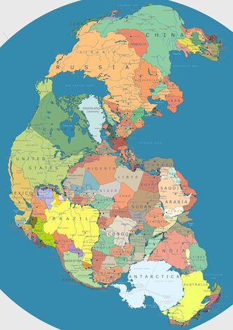 Pangea With Nations