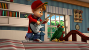 Alvin Dancing with Birdy