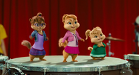 The Chipettes in The Squeakquel