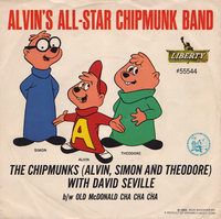Alvin's All-Star Chipmunk Band Single Cover