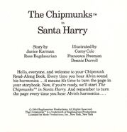 The Chipmunks in Santa Harry Title Page