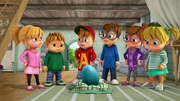 The Chipmunks and Chipettes with Dragon Egg