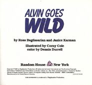 Alvin Goes Wild Title Page