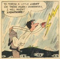 Invents Weather Scene Illustration
