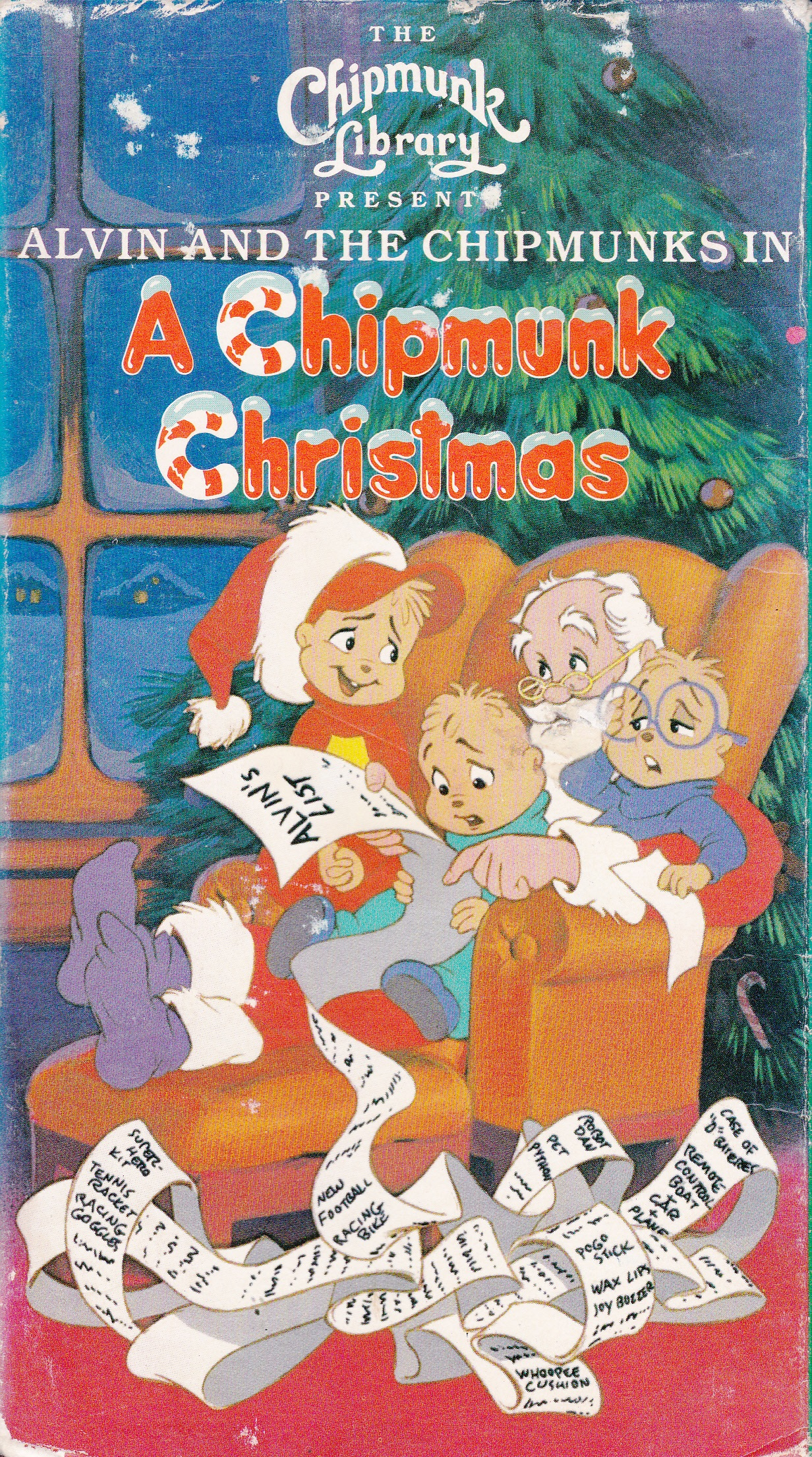 Alvin And The Chipmunks Christmas.A Chipmunk Christmas Vhs Alvin And The Chipmunks Wiki