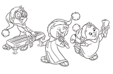some chipmunk colouring pages | alvin and the chipmunks wiki ... - Theodore Chipmunk Coloring Pages