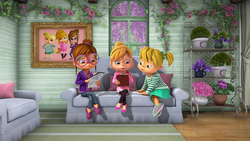The Chipettes On Couch