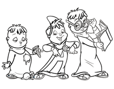 Some Chipmunk colouring pages | Alvin and the Chipmunks Wiki ...