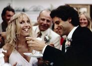 Janice and Ross during their wedding