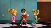 Alvin, Brittany, and Eleanor