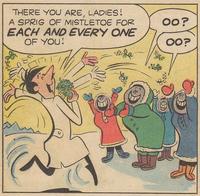Crashcup and the Eskimo Mistletoe Scene Illustration