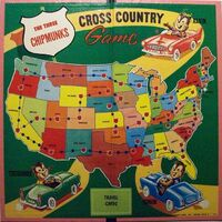 The Three Chipmunks Cross Country Game Board