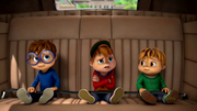 The Chipmunks in Dave's car