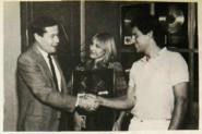 Ross and Janice chatting with Jack Craigo (1989)