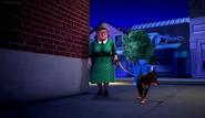 Miss Smith walking Turly