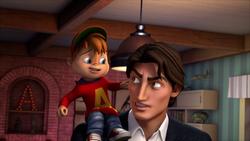 Alvin On Dave's Shoulder
