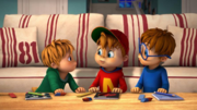 The Chipmunks Doing Homework