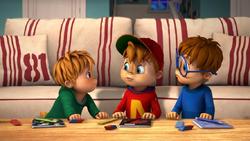 The Chipmunks Doing Homework