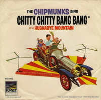 The Chipmunks sing Chitty Chitty Bang Bang Single Cover