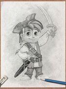 Alvin as Pirate