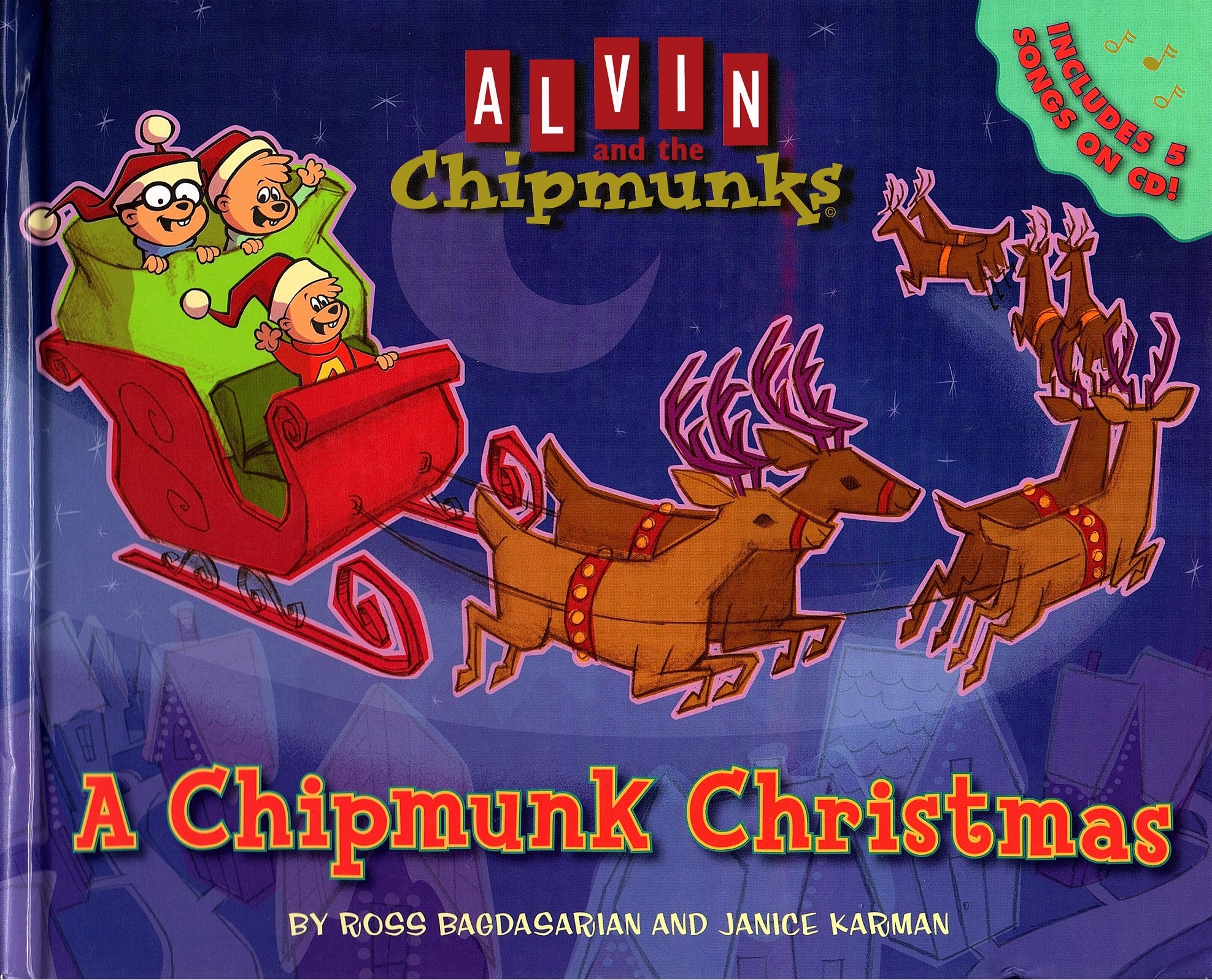 Alvin And The Chipmunks Christmas.Alvin And The Chipmunks A Chipmunk Christmas With Cd