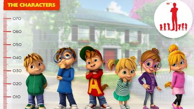 Size chart of Chipmunks and Chipettes